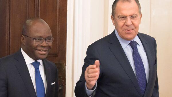 Rusya Dışişleri Bakanı Sergey Lavrov- Benin Dışişleri Bakanı Aurelien Agbenonci - Sputnik Türkiye