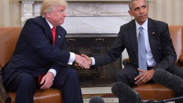 ABD'nin 45. ve 46. başkanları Donald Trump ile Barack Obama - Sputnik Türkiye