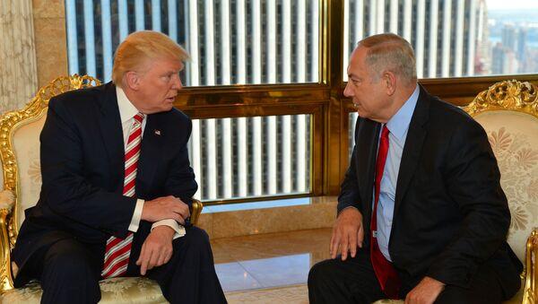 ABD'nin yeni başkanı Donald Trump- İsrail Başbakanı Benyamin Netanyahu - Sputnik Türkiye