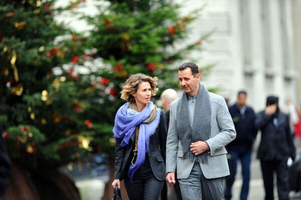 Suriye Devlet Başkanı Beşar Esad ve eşi Esma Esad - Sputnik Türkiye