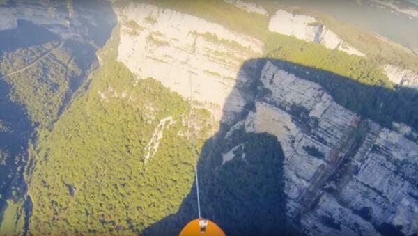 Alpler'de 600 metre yüksekliğinde sörf yarışması düzenlendi - Sputnik Türkiye