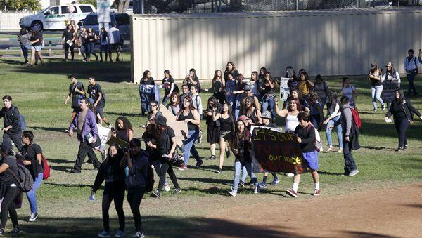 Trump karşıtı öğrenci protestoları - Sputnik Türkiye