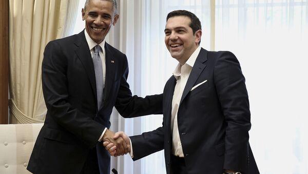 ABD Başkanı Barack Obama ile Yunanistan Başbakanı Aleksis Çipras buluştu. - Sputnik Türkiye