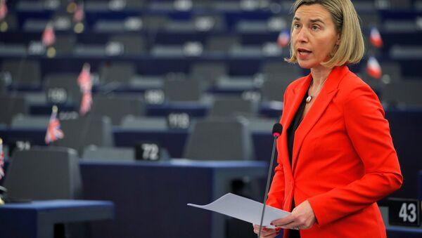 AB Dış İlişkiler ve Güvenlik Politikası Yüksek Temsilcisi Federica Mogherini - Sputnik Türkiye