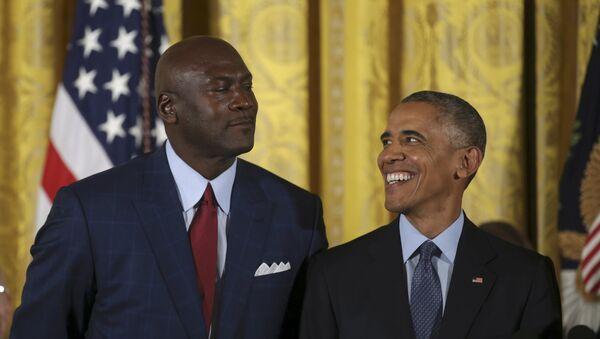 Barack Obama - Michael Jordan - Sputnik Türkiye