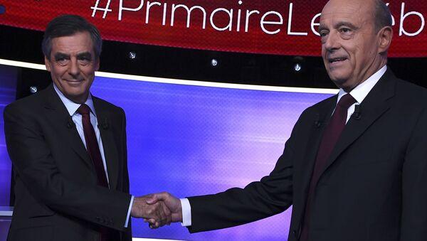 François Fillon ve Alain Juppe - Sputnik Türkiye