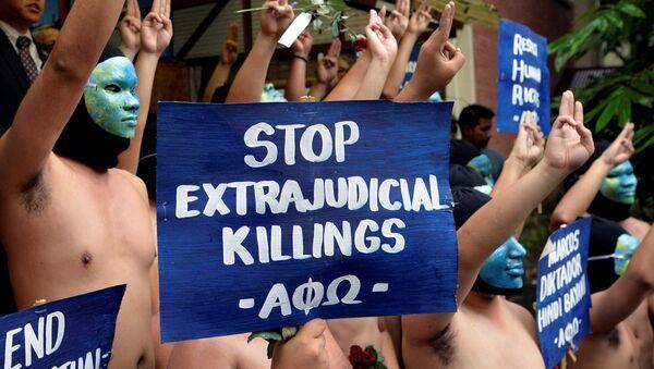 Filipinler'de 'Diktatör Marcos' protestosu - Sputnik Türkiye