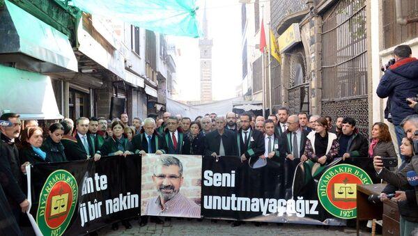 Tahir Elçi, öldürüldüğü yerde anıldı - Sputnik Türkiye