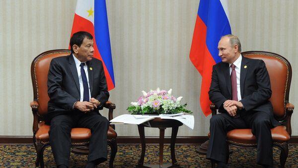 Rodrigo Duterte ve Wladimir Putin, APEC Zirvesi'nde görüştü - Sputnik Türkiye