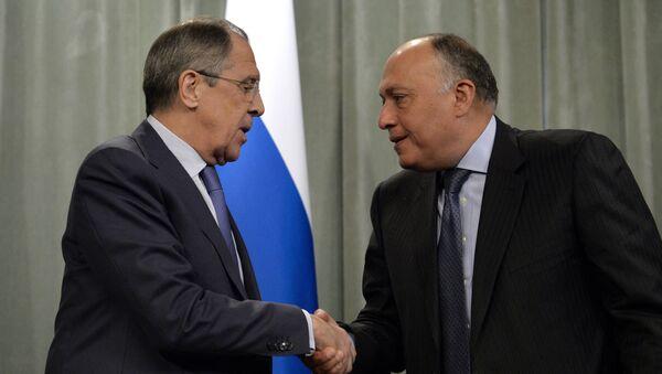Rusya Dışişleri Bakanı Sergey Lavrov ve Mısırlı mevkidaşı Semih Şükri - Sputnik Türkiye