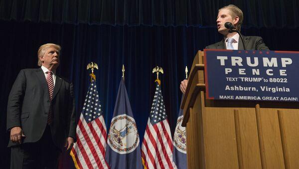 ABD'de başkan seçilen Donald Trump'ın oğlu Eric Trump - Sputnik Türkiye