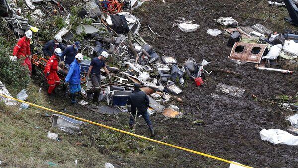 Brezilyalı futbolcuları da taşıyan uçak Kolombiya'da düştü - Sputnik Türkiye