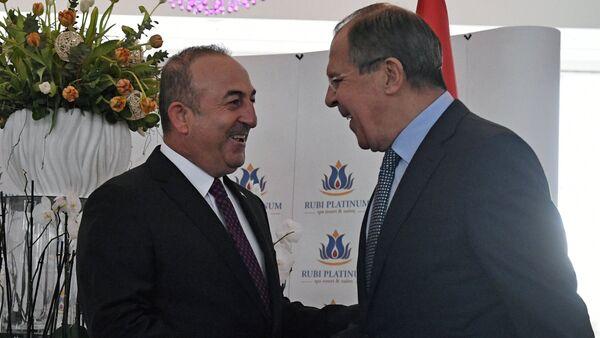 Sergey Lavrov - Mevlüt Çavuşoğlu - Sputnik Türkiye