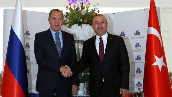 Rusya Dışişleri Bakanı Sergey Lavrov- Türkiye Dışişleri Bakanı Mevlüt Çavuşoğlu - Sputnik Türkiye