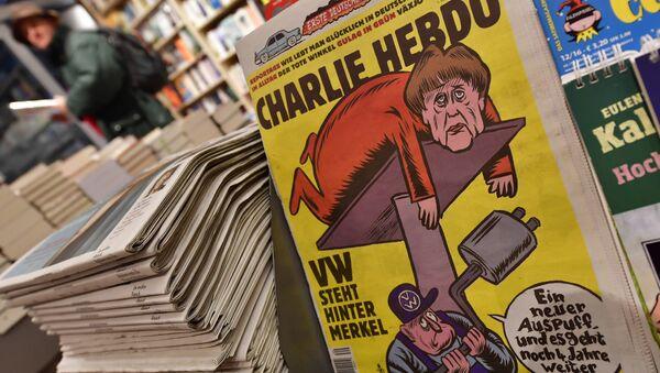 Charlie Hebdo ilk Almanca edisyonunu yayınladı - Sputnik Türkiye