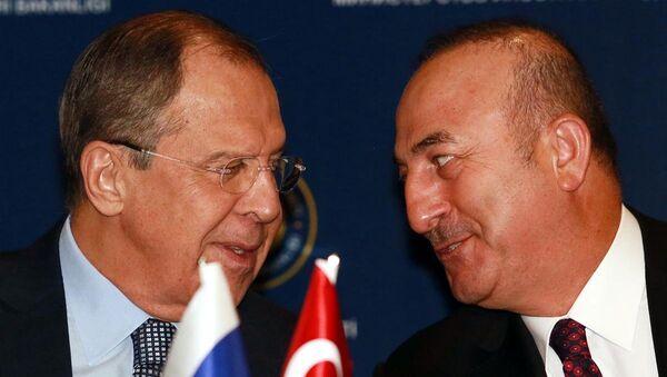 Sengey Lavrov - Mevlüt Çavuşoğlu - Sputnik Türkiye