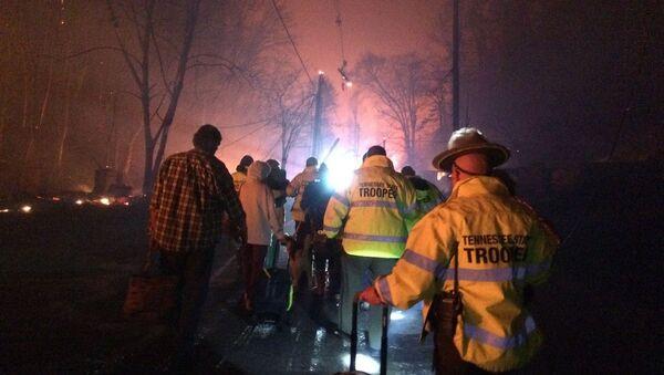 ABD'nin Tennessee eyaletinde orman yangını - Sputnik Türkiye