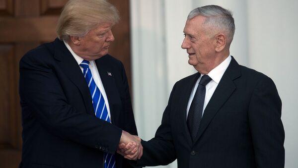 ABD Başkanı Donald Trump ile Savunma Bakanı James Mattis - Sputnik Türkiye