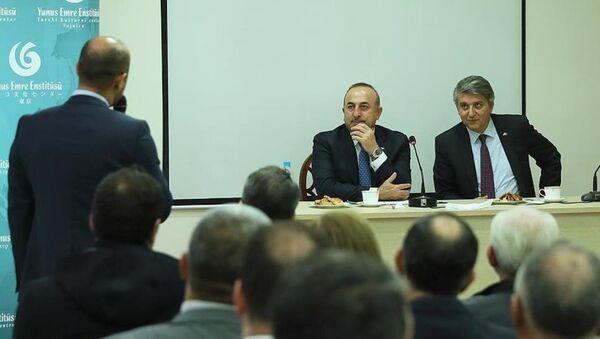 Dışişleri Bakanı Mevlüt Çavuşoğlu, Lübnan'ın başkenti Beyrut'ta - Sputnik Türkiye