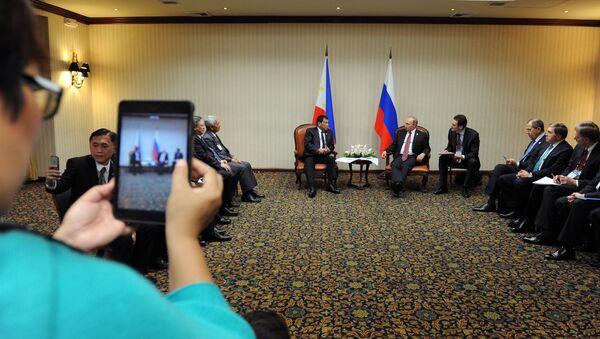 Rusya Devlet Başkanı Vladimir Putin- Filipinler Devlet Başkanı Rodrigo Duterte - Sputnik Türkiye