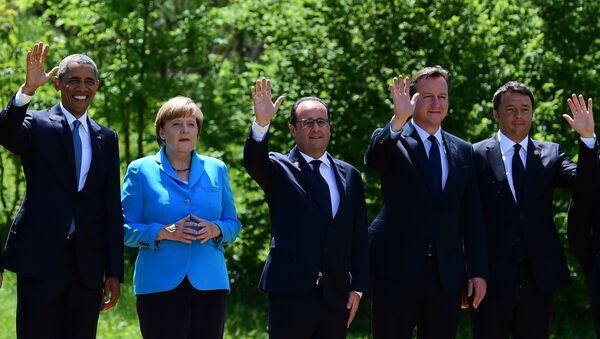 Barack Obama - Angela Merkel - FranÇois Hollande - David Cameron - Matteo Renzi - Sputnik Türkiye