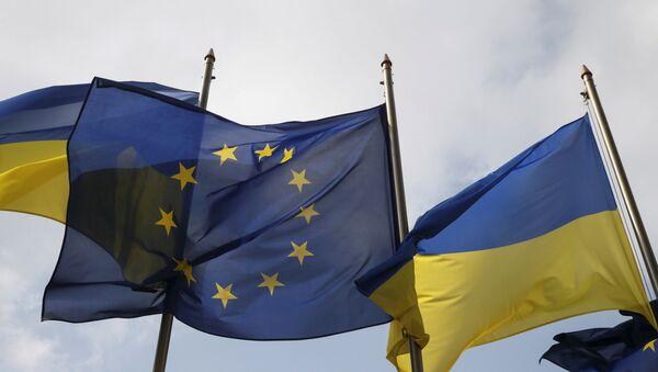 Ukrayna ve AB bayrakları - Sputnik Türkiye