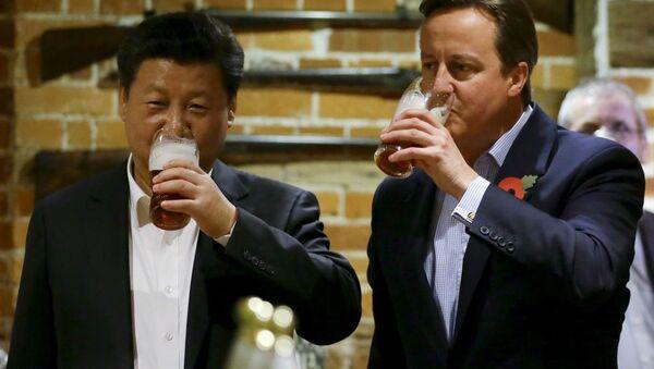 David Cameron - Şi Cinping - Sputnik Türkiye