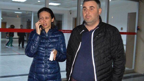 Manisa'nın Turgutlu ilçesinde 4 aylık hamile Ebru Tireli (32), parkta spor yaptığı sırada kimliği belirsiz bir erkeğin saldırısına uğradı. - Sputnik Türkiye