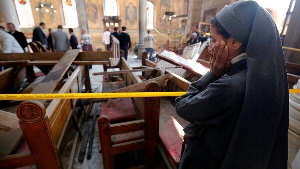 Kahire'de Kıpti katedraline saldırı - Sputnik Türkiye