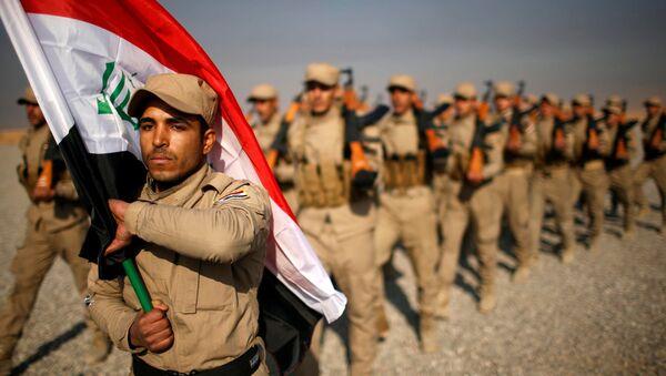 Irak'taki Mahmur Kampı'nda eğitim gören Haşdi Şabi milisleri - Sputnik Türkiye