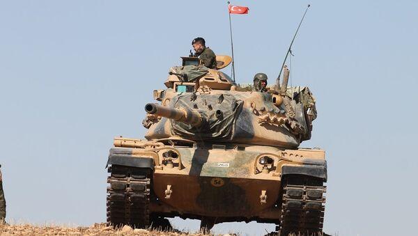 El Bab'daki Türk tankları - Sputnik Türkiye