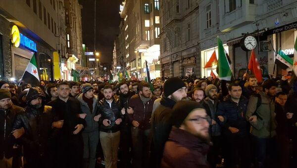 İstanbul'da Halep protestosu - Sputnik Türkiye