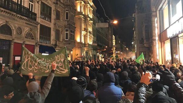 Taksim'deki Halep protestosu - Sputnik Türkiye