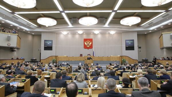 Премьер-министр России Владимир Путин выступил на заседании Госдумы РФ - Sputnik Türkiye