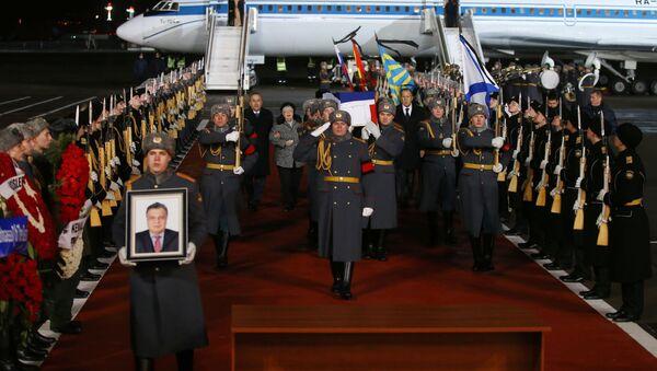 Karlov'un naaşı Moskova'da karşılandı - Sputnik Türkiye