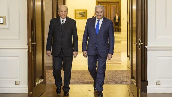 Başbakan Binali Yıldırım ve MHP Genel Başkanı Devlet Bahçeli - Sputnik Türkiye