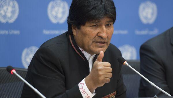 Bolivya Devlet Başkanı Evo Morales, BM'de konuşma yaparken - Sputnik Türkiye