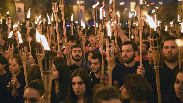 Ermenistan'ın başkenti Erivan'da 1915 Olayları'nın yıl dönümünde yürüyüş - Sputnik Türkiye