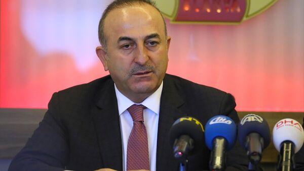 Dışişleri bakanı Mevlüt Çavuşoğlu, Alanya Gazeteciler Cemiyeti'nde - Sputnik Türkiye