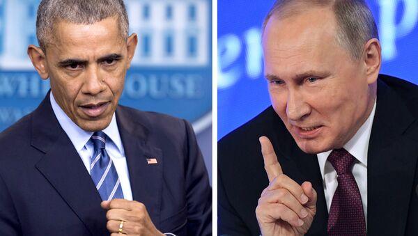 eski ABD Başkanı Barack Obama- Rusya Devlet Başkanı Vladimir Putin - Sputnik Türkiye
