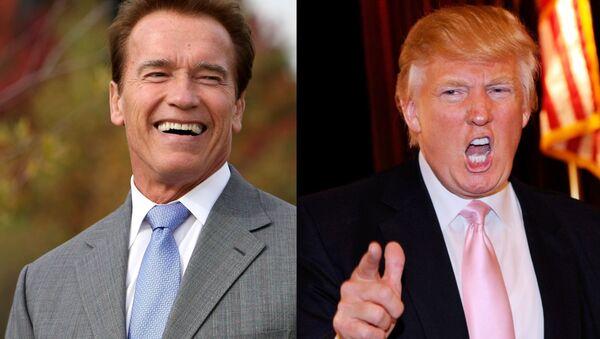 Arnold Schwarzenegger ve Donald Trump - Sputnik Türkiye