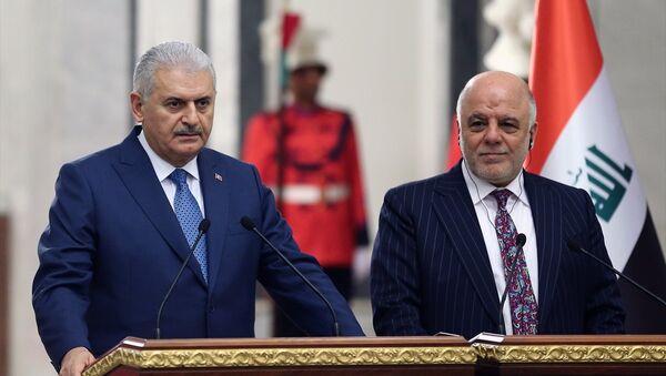 Başbakan Binali Yıldırım- Irak Başbakanı Haydar el İbadi - Sputnik Türkiye