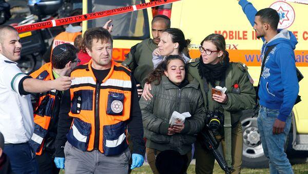 Kudüs'te kamyonlu saldırının yaşandığı bölge - Sputnik Türkiye