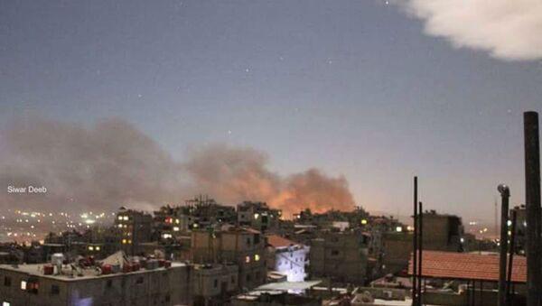 Şam'daki Mezzeh Askeri Havalimanı'na saldırı - Sputnik Türkiye