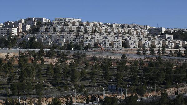 Doğu Kudüs'teki yahudi yerleşim inşaatı - Sputnik Türkiye