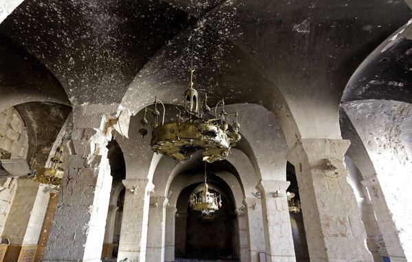 Halep'teki tarihi anıtların yıkıntıları - Sputnik Türkiye