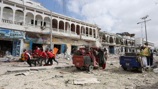 Somali'nin başkenti Mogadişu'da Dayah Otel'e saldırı düzenlendi - Sputnik Türkiye