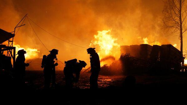 Şili'ni yakın tarihinin en büyük orman yangını Santa Olga kasabasını kül etti - Sputnik Türkiye
