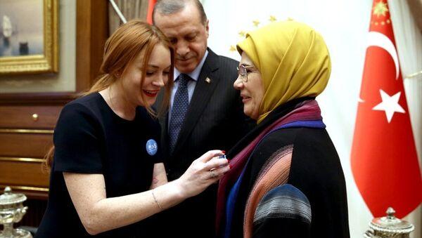 Lindsay Lohan Cumhurbaşkanlığı Külliyesi'nde - Sputnik Türkiye