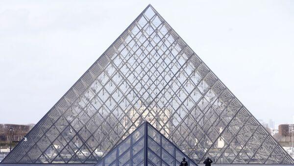 Louvre Müzesi'nde gergin anlar - Sputnik Türkiye